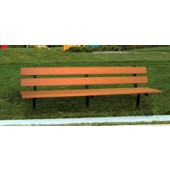 8' Trailside Bench with In-Ground Steel Leg