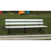8' Trailside Bench with Steel Leg