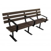 6' Urban Bench with Surface Mount